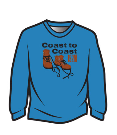 Blue Coast to Coast Long Sleeve T-Shirt