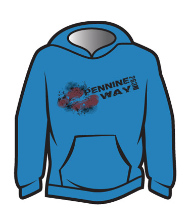 Blue Pennine Way Design 1 Hoodie