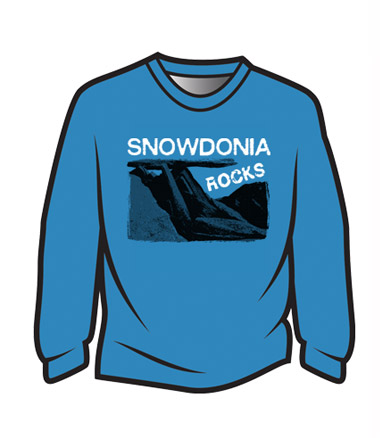 Blue Snowdonia Rocks Sweatshirt