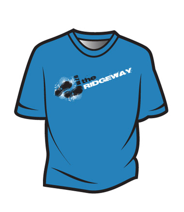 Blue The Ridgeway Design 1 T-Shirt