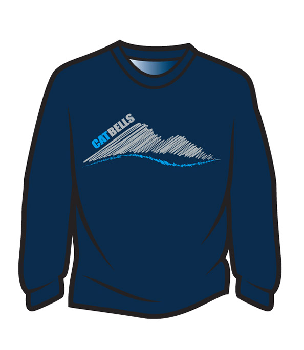Dark Blue Cat Bells Long Sleeve T-Shirt