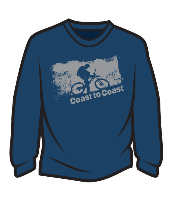 Dark Blue Coast to Coast biker Long Sleeve T-Shirt