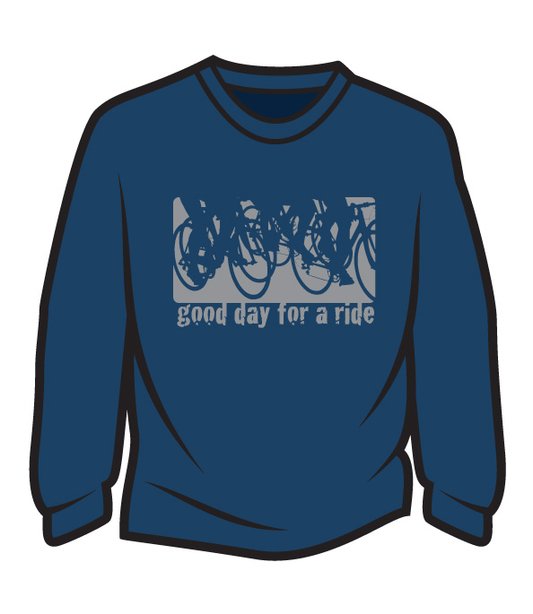 Dark Blue Good day for a ride Long Sleeve T-Shirt