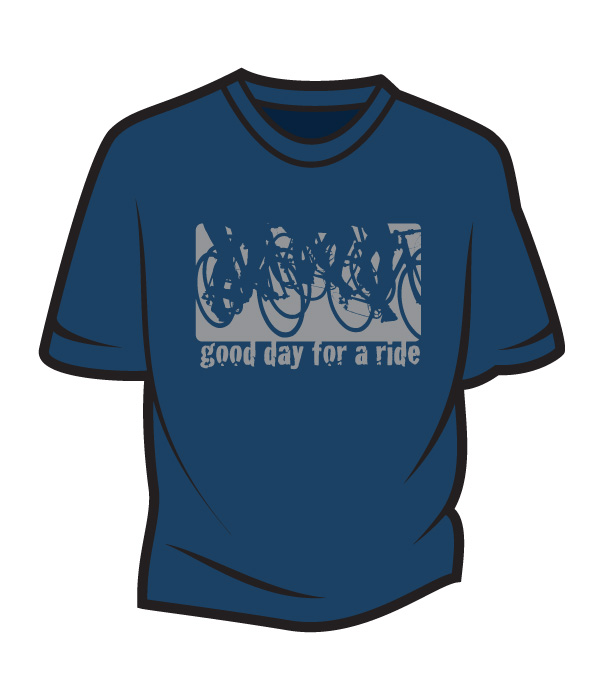 Dark Blue Good day for a ride T-Shirt
