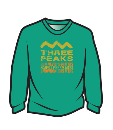 Green 3 Peaks Long Sleeve T-Shirt