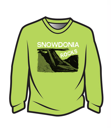 Green Snowdonia Rocks Sweatshirt
