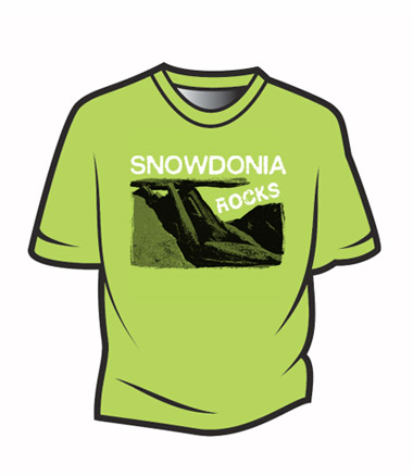 Green Snowdonia Rocks T-Shirt