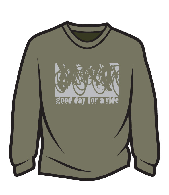 Khaki Good day for a ride Long Sleeve T-Shirt