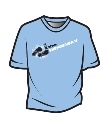 Light Blue The Ridgeway Design 1 T-Shirt