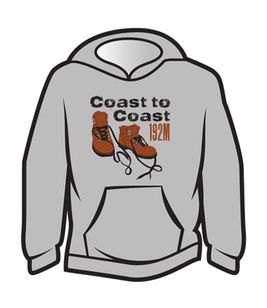 Light Grey Coast to Coast Hoodie