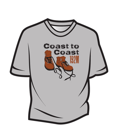 Light Grey Coast to Coast T-Shirt