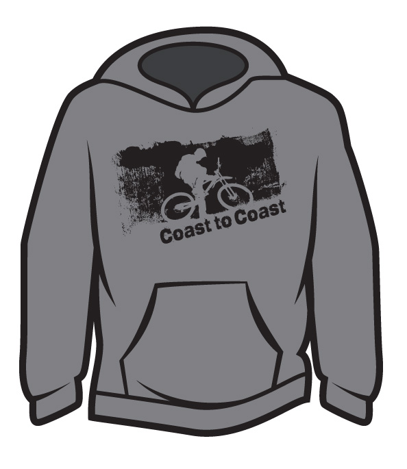 Light Grey Coast to Coast biker Hoodie