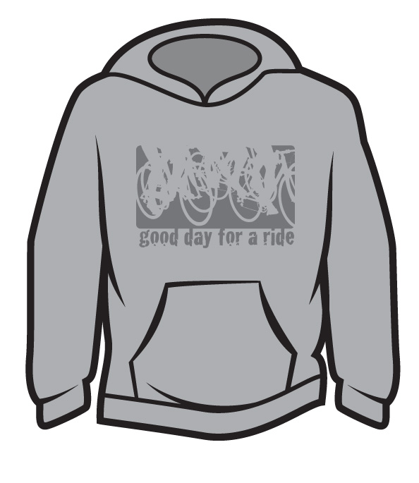 Light Grey Good day for a ride Hoodie