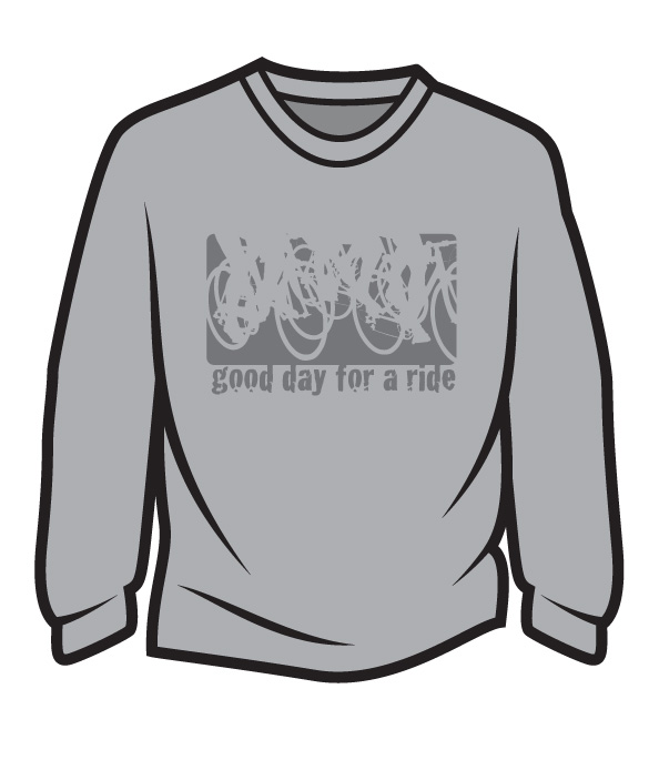 Light Grey Good day for a ride Long Sleeve T-Shirt