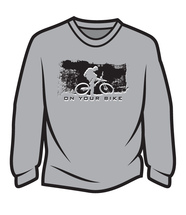 Light Grey On your bike Long Sleeve T-Shirt
