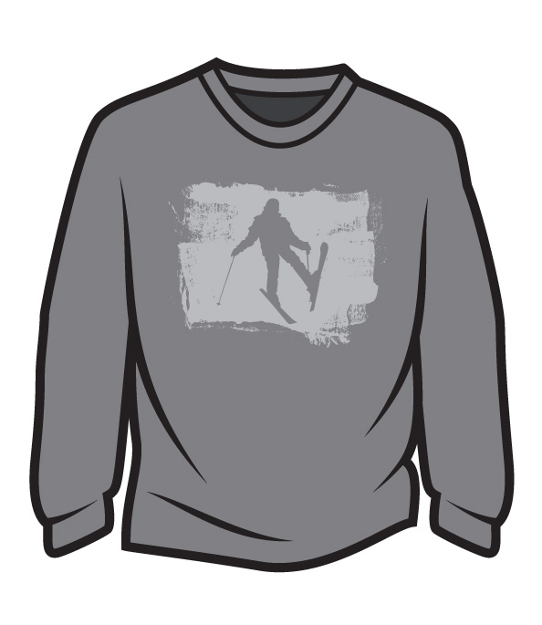 Light Grey Skier Design 2 Sweatshirt