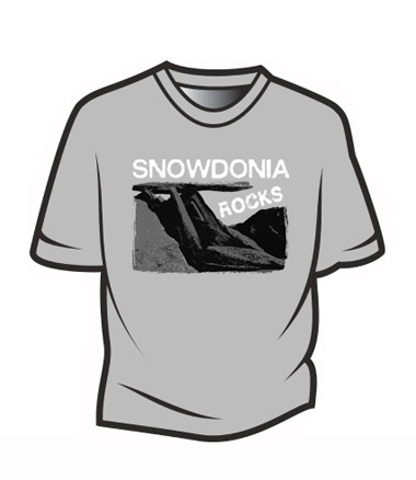 Light Grey Snowdonia Rocks T-Shirt